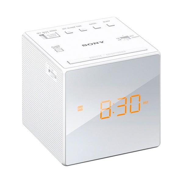 Sony icf-c1 blanco radiodespertador sintonizador am/fm analógico alarma gradual 100mw de potencia