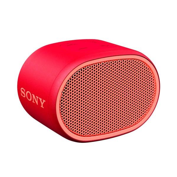 Sony srs-xb01 rojo altavoz inalámbrico bluetooth aux micrófono extra bass y resistente al agua