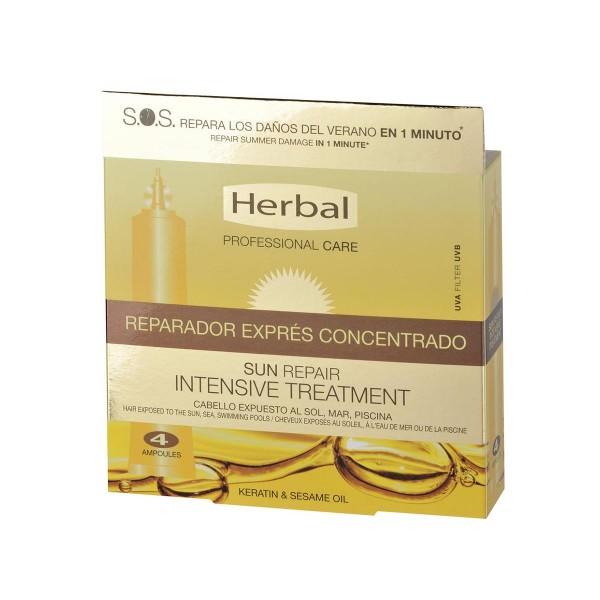Herbal professional care sun repair uva filter intensive treatment reparador express concentrado 4 x 20 ml