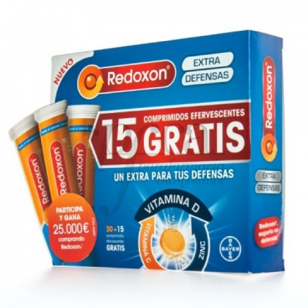 REDOXON EXTRA DEFENSAS NARANJA 30+15 COMPS PROMO
