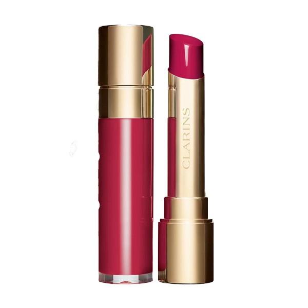Clarins joli rouge lacquer lipstick 762l pop pink
