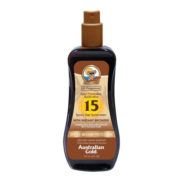 Australian gold spf15 with instant bronzer spray gel 237ml vaporizador