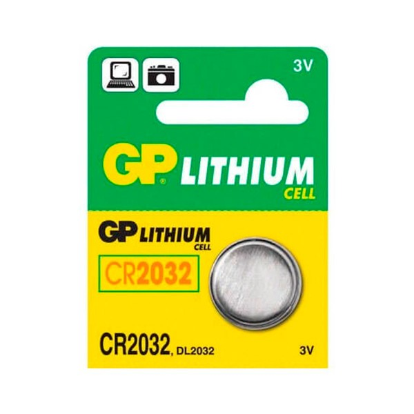 Gp pila litio cr2032 3v blister de 1 unidad