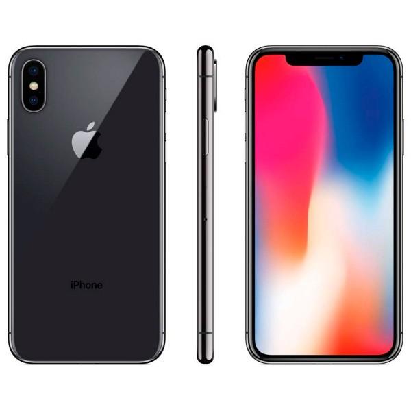 Apple iphone x 64gb gris espacial reacondicionado cpo móvil 4g 5.8'' super retina oled hdr/6core/64gb/3gb ram/12mp+12mp/7mp