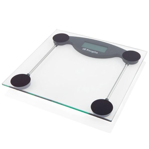Orbegozo pb 2211 báscula de baño electrónica con pantalla lcd de 29mm y superficie de cristal
