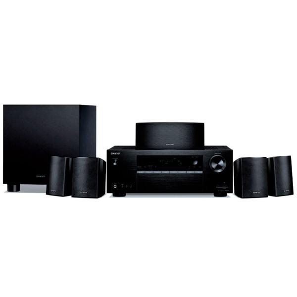Onkyo avx-391 wmp negro sistema de cine en casa 5.1 receptor ht-r395 + altavoces htp-396