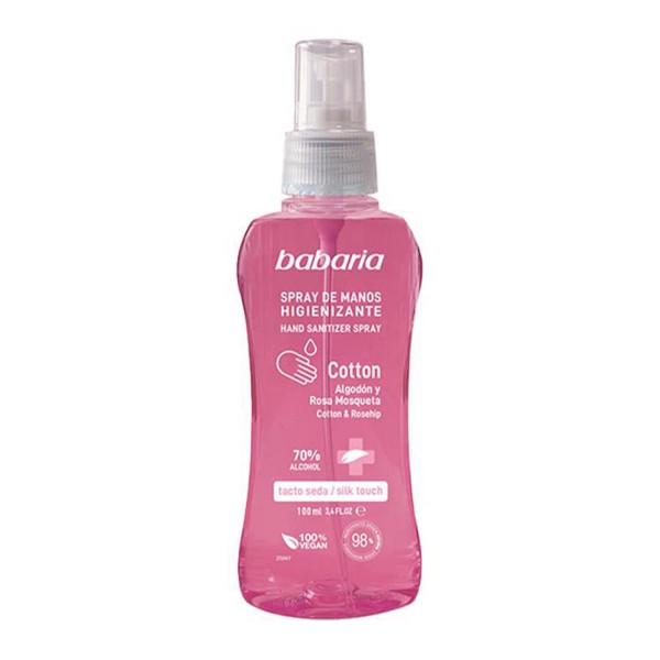Babaria cotton gel de manos higienizante spray 70% alcohol 100ml