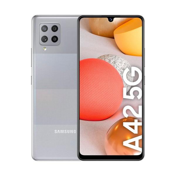 Samsung galaxy a42 gris móvil 5g dual sim 6.6'' hd+ octacore 128gb 4gb ram quadcam 48mp selfies 20mp