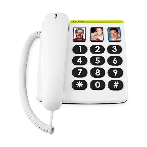 Doro phone easy 331ph blanco teléfono fijo con cable botones foto