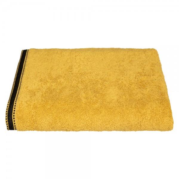 Toalla baño premium color mostaza 100x150cm